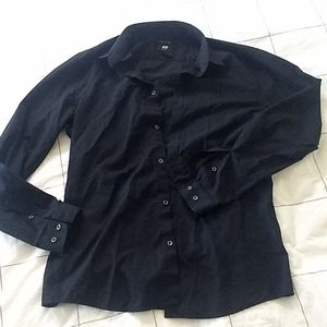 H&M Black Button Down shirt bundle of 2